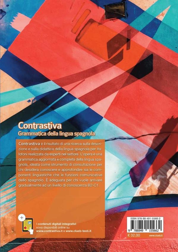 Contrastiva Grammatica della lingua spagnola, quarta di copertina