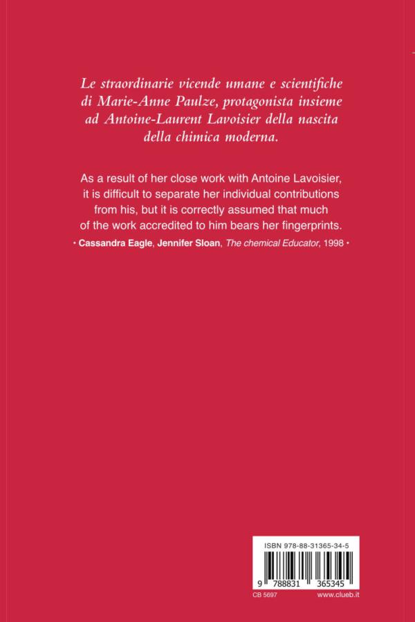 Vita di Marie-Anne Paulze Lavoisier, di Sandro Tirini